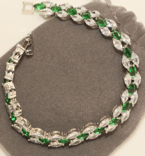 "18K White Gold Finish 2ct Diamond Tennis Bracelet 7.25/"" Women/'s Marquise Cut"