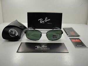 b16cbf7523 RAY-BAN CARBON TECH POLARIZED SUNGLASSES RB8316 002 N5 BLACK GREEN ...