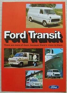 FORD TRANSIT Van Sales Brochure Aug 1975 #FB548 2nd EDITION