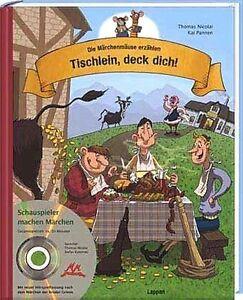 großer märchenspaß: tischlein deck dich bilderbuch  audio cd die märchenmäuse | ebay