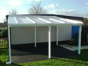 Image Is Loading 7m Powder Coated Aluminium Free Standing Canopy Lean