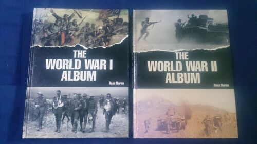 1 of 1 - THE WORLD WAR 1 & 11 ALBUM Pair ROSS BURNS Hard Cover - History - Military
