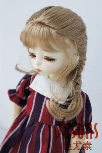 6-7'' Lati Green Doll Hair YOSD French Braids Synthetic Mohair BJD Doll Wig 1/6