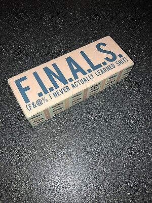 New College Dorm Room FINALS Decor Box Sign Picture Wood Wooden Chic Funny Girls