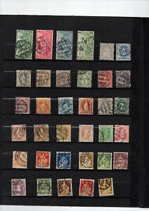 35-timbres-de-Suisse-entre-no-86-et-127