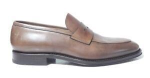 Marron En Cuir Main Italy Colliers Made Mocassin In En Pour Fait Hommes Cuir Chaussures TWHZqnX