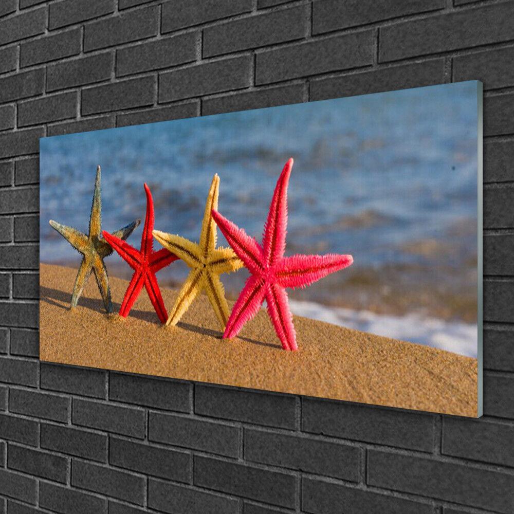 Image sur verre Tableau Impression 100x50 Art Plage Étoile De Mer