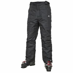 Trespass-Mens-Ski-Black-Pants-Waterproof-Windproof-Trousers-Salopettes