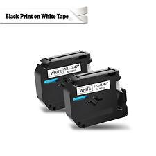 2pk For Brother P Touch Pt80 Pt70 Black On White Label Tape M K231 Mk231