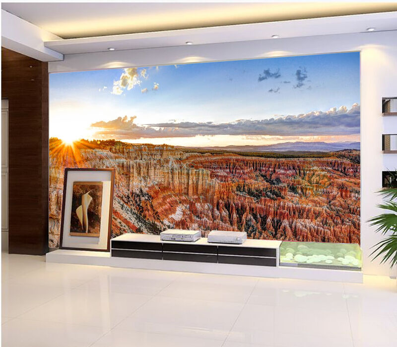 3D Bright Sunshine Mountain 273 Wall Paper Wall Print Decal Wall AJ WALLPAPER CA