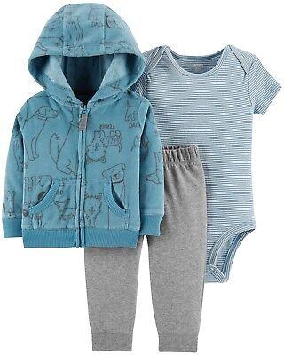 Carter/'s NWT 24M Space Infant Boy 3pc Little Jacket Fleece Pant Bodysuit Set