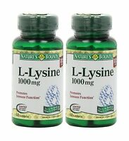 Nature's Bounty L-lysine 1000mg 120 Tablets (2 X 60 Count Bottl... Free Shipping