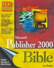 Microsoft Publisher 2000 Bible Plumley, Sue Paperback