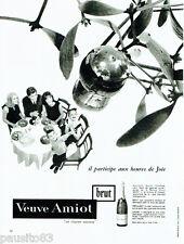 PUBLICITE ADVERTISING 115  1964  VEUVE AMIOT  BRUT  vin SAUMUR