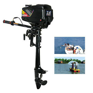 Outboard Engine Motor 3.6HP 2 Stroke Engine Fishing Small Boat CDI Water Cooling