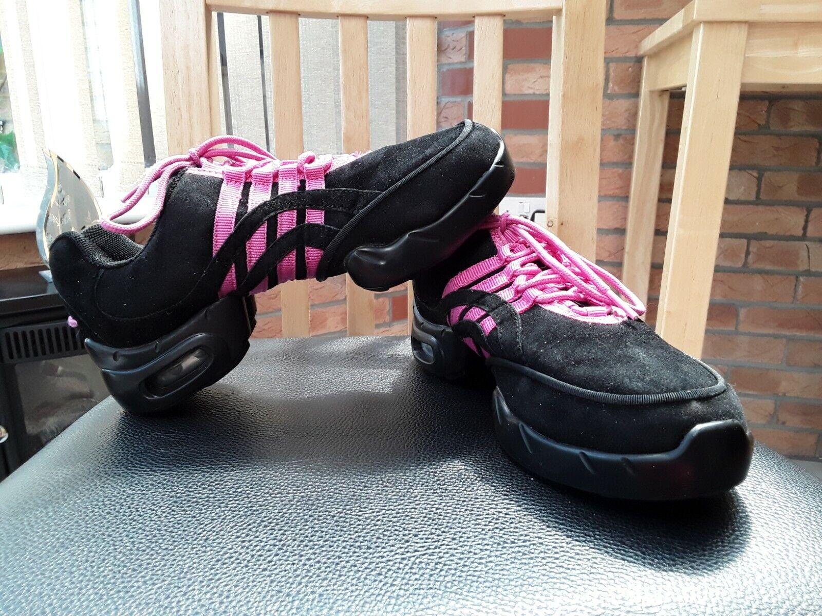 Roch Valley Black & Pink Impact Dance Sneaker Size UK 5