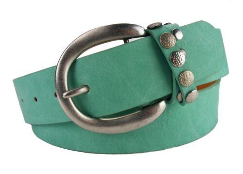 Nietengürtel Basicgürtel Gürtel Damengürtel Jeansgürtel mint hellgrün grün MI3D