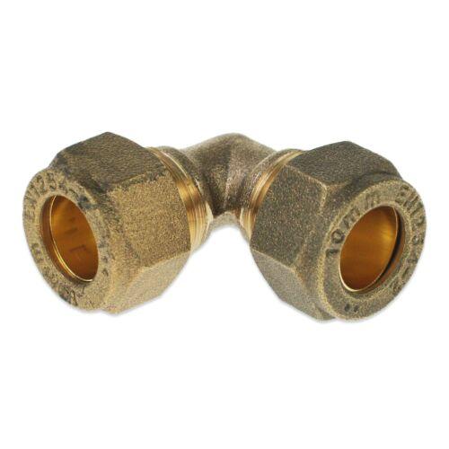Brass 10 Mm Compression Coude raccord gaz tuyau cuivre égal Connecteur Coupleur