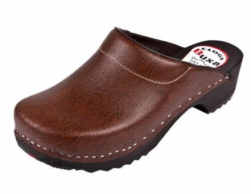 Wooden clogs  Brown color   Swedish style US Shoe Size Women/'s