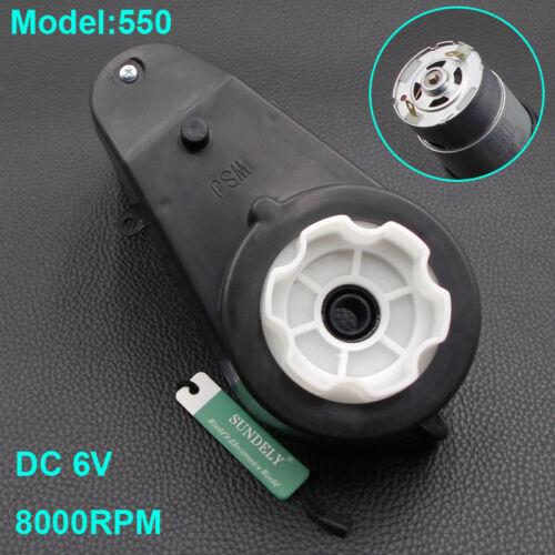 6V//12V High Speed Kid Ride On Car Bike Toy Electric Motor Gear Box 8000-30000RPM