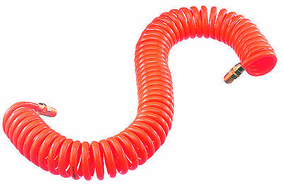 "X 1/4"" Coiled Polyurethane Air Hose Tools & Workshop Equipment Rapture 25 Ft"