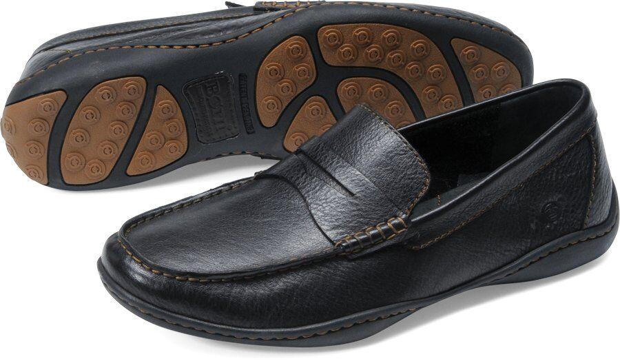 Uomo Born Casual Loafer Moc Toe Penny Loafer Simon Simon Simon nero Leather H04803 449972