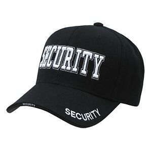 BLACK SECURITY GUARD OFFICER BASEBALL CAP CAPS HAT HATS | eBay