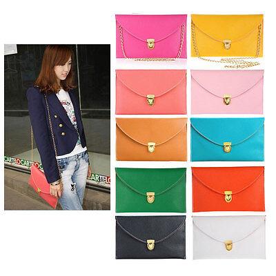 womens Classic Envelope Clutch Chain Purse HandBag Shoulder Bag