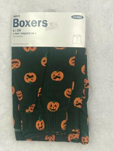 NWT Old Navy Men/'s Halloween Pumpkin Boxer Shorts Green Orange Small