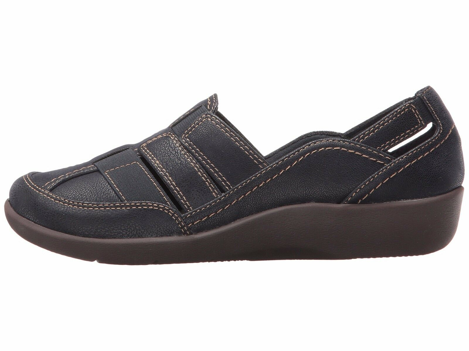 Women's shoes Clarks Clarks Clarks Sillian Stork Casual Cushioned Slip Ons 25893 Navy New 87008f