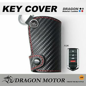 Leather SMART Key Fob Holder Case Chain Cover Fit For ACURA TSX RSX - Acura phone case