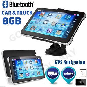 7-034-8GB-Bluetooth-AV-IN-Truck-Car-GPS-Navigation-Lorry-HGV-SatNav-FM-UK-New-Maps