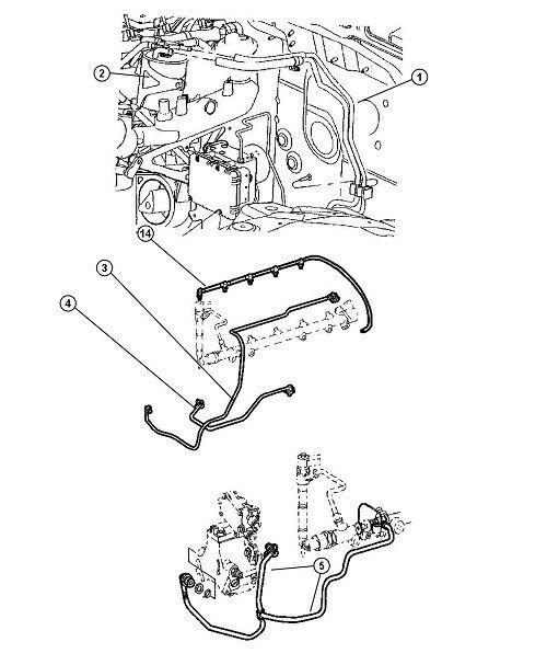 Buy Diesel Injector Fuel Line Overflow Hose Mercedes 4 Cyl Metal