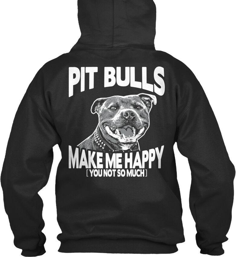 Pit Bull Make Me Happy Eu - Bulls You Not So Much Bequemer Kapuzenpullover     | Erlesene Materialien  | Mama kaufte ein bequemes, Baby ist glücklich  | Feinen Qualität