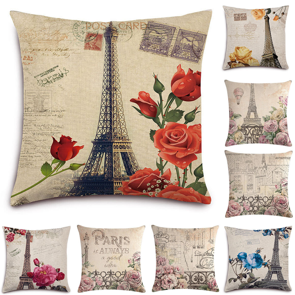 Emvency Throw Pillow Cover Victorian Bird Paris French Botanical Rose Decorative For Sale Online Ebay