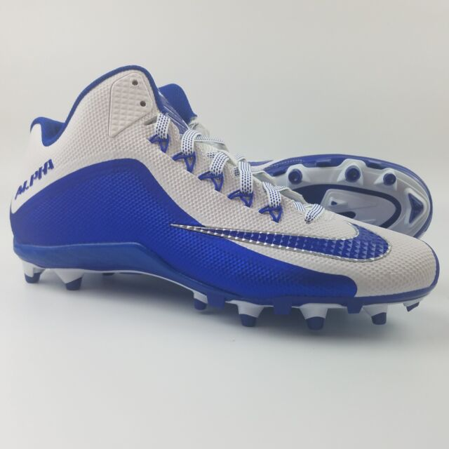 new concept 2992e 04a9f Nike Alpha Pro 2 TD 34 Mens Size 12 Football Cleats White Royal Blue