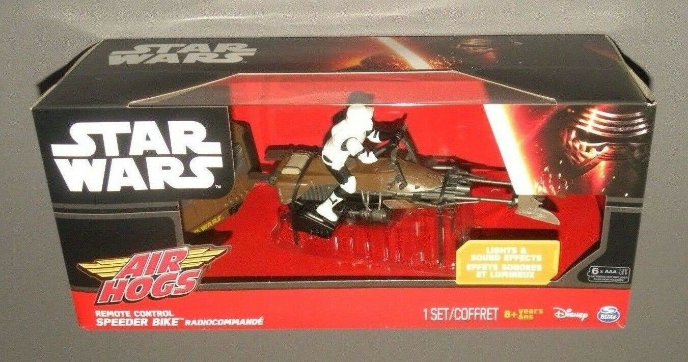 Air Hogs Star Wars Remote Control Control Control Speeder Bike R C Car Vehicle with Lights, SFX 193c4f