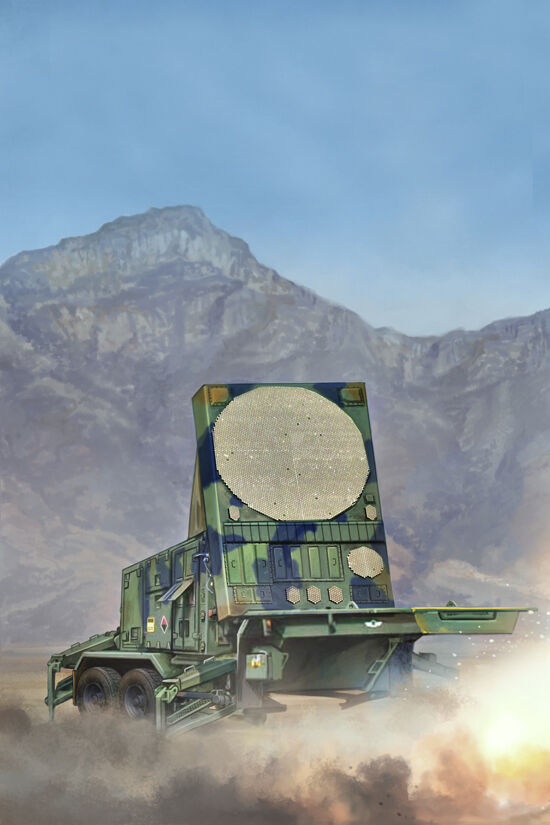 RADAR MPQ-53 C-BRAND pour MISSILES  PATRIOT  - KIT TRUMPETER 1 35 n°1023