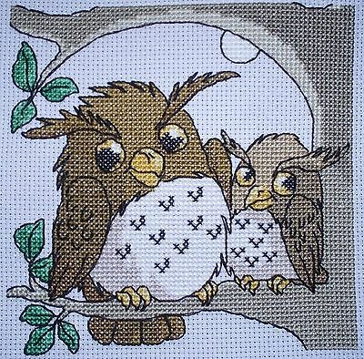 CL63 Goodnight Owls Cross Stitch Chart by Vanessa Wells