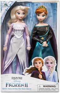Disney Frozen 2 Queen Anna & Classique Elsa Poupée Lot de 2 30 cm Action Figure Boxed