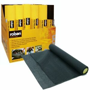 Rolson Black Non Slip Cushion Mat Anti