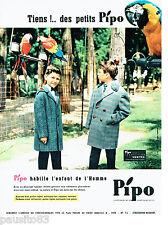 PUBLICITE ADVERTISING 086  1960  les manteaux enfant  Pipo Vestra perroquet