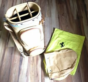 Golf-Tasche-Golfbag-Ferrari-FF-GTC-Lusso-Original-Schedoni-beige-NEU-gondola