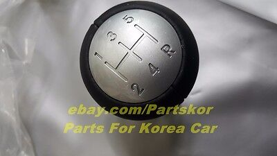 M//T 5Speed Leather Red Point Number Gear Shift Knob FOR KIA Picanto 2012-2015
