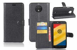 Premium-Leather-Wallet-Flip-Case-Cover-F-Motorola-Moto-C-C-Plus-amp-E4-E4-Plus