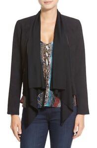 Ella-Moss-039-Serena-039-Drape-Front-Jacket-NWT-Black-M