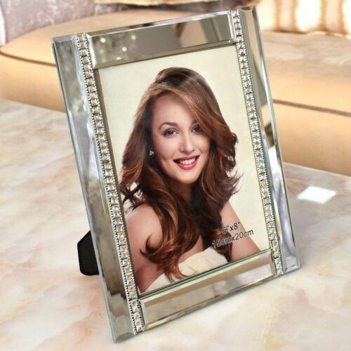 Bilderrahmen für 15x20 cm Verspiegelt Strass Foto Spiegel Kristallglas