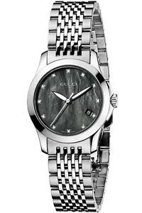 dc317296ead GUCCI YA126505 Women s 126.5 Series Mother Of Pearl Diamond Accented ...