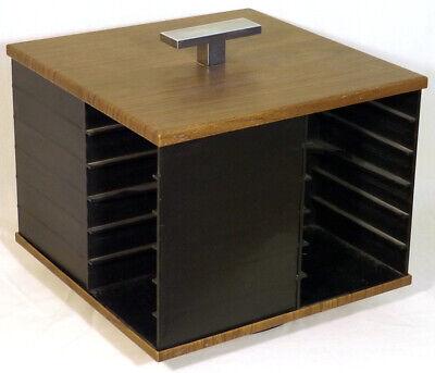 Vintage Esmond 1970 Carousel Storage Holder For 24 Eight Track Tape Cartridges Music