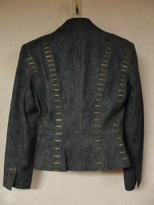 Fabulous-Randolph-Duke-Riveted-Jean-Jacket-Blazer-Size-10